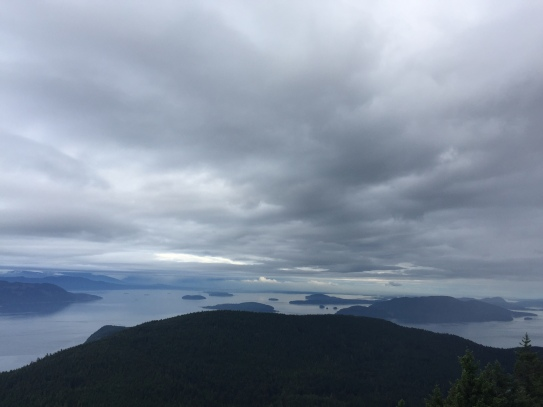 From the top of Mount Constitution between two storm systems.